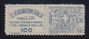 1926-30-L-1-50-azzurro-perforato-a-zig-zag-gomma-integra-Cert-lotto-490
