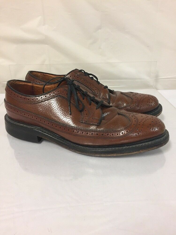 British Walker Mens Size 9.5 C Oxfords Brown Leather dress casual wingtip