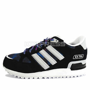 best loved d6f68 054d8 coupon image is loading adidas zx 750 aq3184 running black grey white 10ddd  c369a