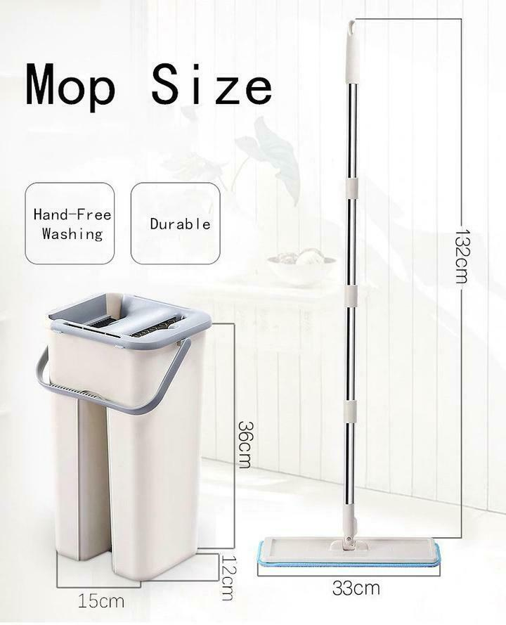 Clever Clean - Free hand Wash Mop Mop Mop Floor System Auto Cleaning Drying Wringing 6d0efd