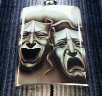 Flask 8oz Stainless Steel Smile Now Cry Later Chicano Lowrider.