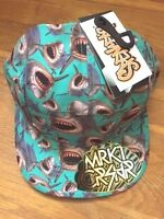 Mrkt Crshr Sharks Hat Mens 5 Panel Brand With Tags Adjustable