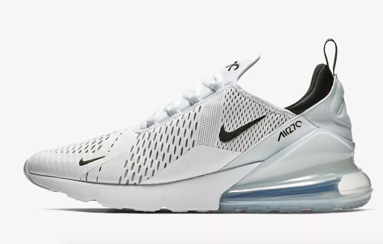 Nike AIR MAX 270  BIANCO Bianco Nero  Uomo Scarpe da ginnastica LIMITED STOCK Tutte le Taglie