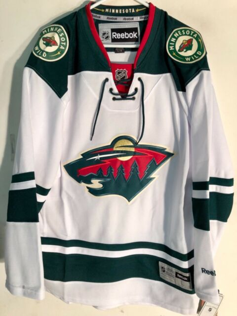 Reebok Premier NHL Jersey Minnesota Wild Team White Sz S for sale ... 5423f087d