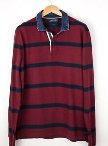 TOMMY-HILFIGER-Men-Vintage-Fit-Polo-Neck-Jumper-Sweater-Size-2XL-XXL-ATZ1069