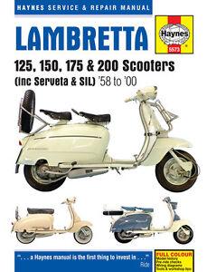 Haynes-Manual-5573-Lambretta-125-150-175-amp-200-Scooters-1958-2000