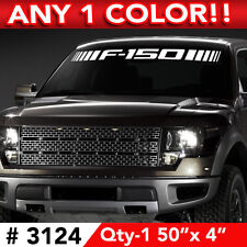 """F150 SLASHES WINDSHIELD DECAL STICKER 50""""w x 4"""" ANY 1 COLOR"""