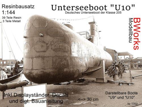 "42 Teile Decals RARITÄT 1:144 Uboot Klasse 205 /""U10/"" Resinbausatz"