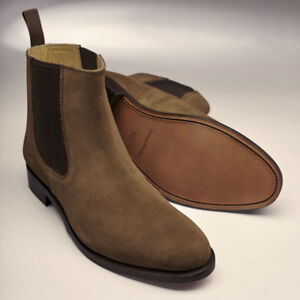 ccbca185a49 Details about Samuel Windsor Mens Brown Leather Shoe Boot Slip On Leather  Sole UK Sizes 5-14