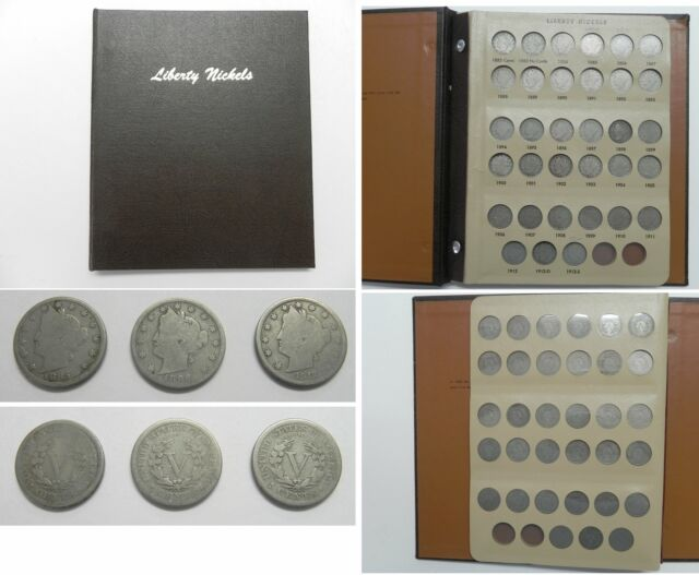 1883 to 1912 Liberty Nickels Set of 7 Coins Set Good
