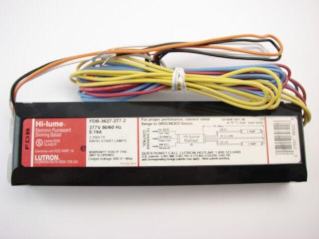 NEW Lutron Hi-Lume FDB-3627-277-2 Electronic Fluorescent Dimming Ballast 2-25W