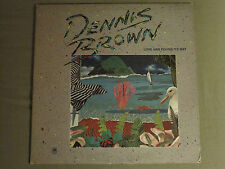 DENNIS BROWN LOVE HAS FOUND ITS WAY LP ORIG '82 JOE GIBBS PROMO REGGAE ROOTS VG+