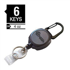 KEY-BAK Sidekick Badge & Key Reel - Heavy Duty Retractable ID Holder - USA Made
