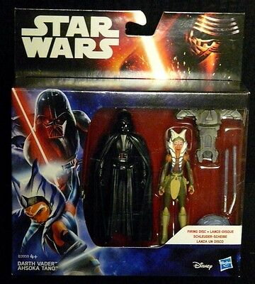 "STAR WARS REBELS DARTH VADER /&  AHSOKA TANO NEW SEALED 3.75/"" ACTION FIGURE"