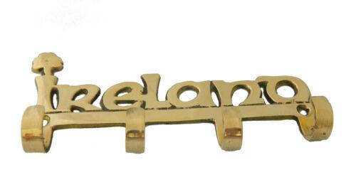 Brass Irish Ireland Key Rack Wall Mount Key Holder 7442