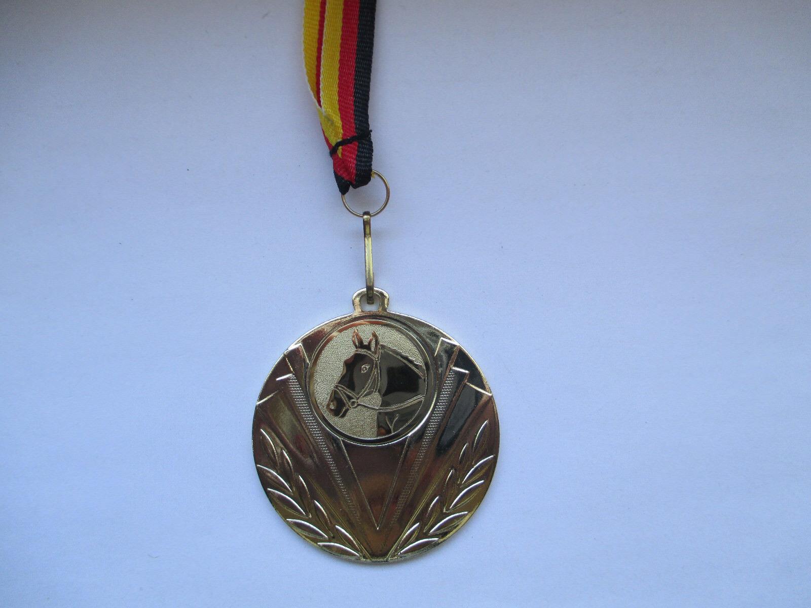 Reiten Reitsport Pokal Kids 50 x Medaillen Deutschland-Bändern Turnier Springen