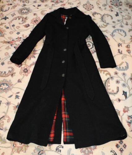 Authentieke Dolce Zeer zwarte jas Dames wollen Gabbana getailleerde Sz lang m Italië S wUwSxZp