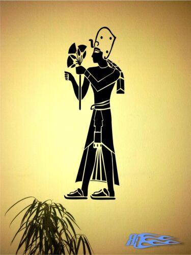 Wandtattoo PHARAO Ägypten  Wandaufkleber Deko MATT Antike