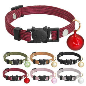 Soft-Luxury-Velvet-Breakaway-Cat-Collar-with-Bell-Safety-Quick-Release-Buckle