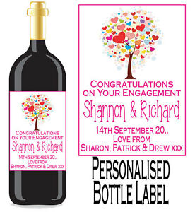 1-Personalised-Wine-or-Spirit-Bottle-Labels-Engagement-Gift-Favour-Ten-Designs