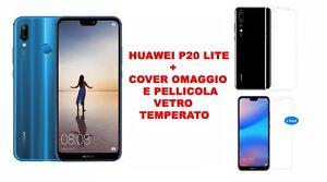 PROMO!! SMARTPHONE HUAWEI P20 LITE BLU 64 GB + COVER E PELLICOLA GRATIS