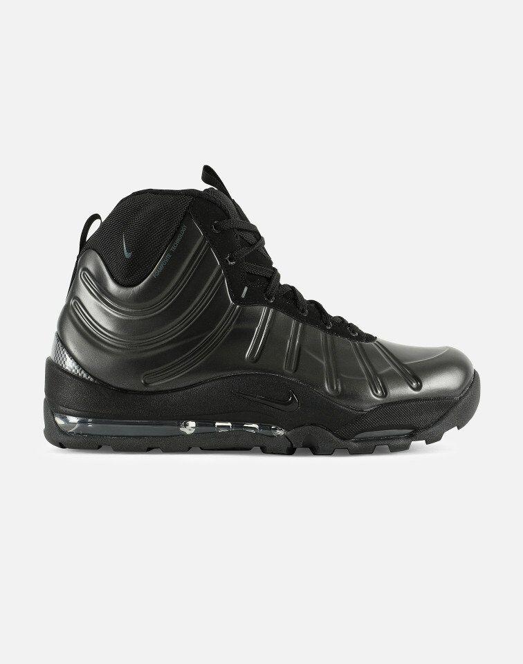 {618056-001} uomini nike air cuciniamo posite scarpa nera di nuovo!