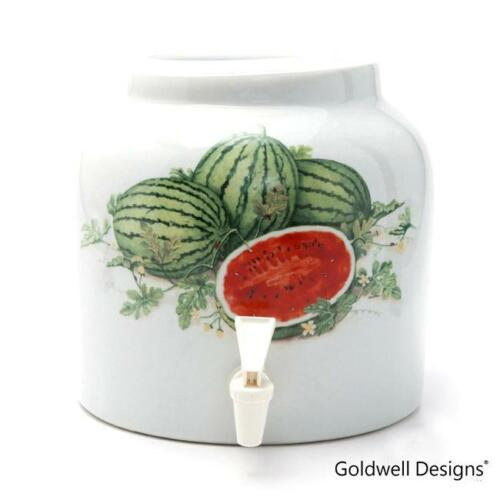 DD401 Goldwell Designs® Sweet Watermelons Porcelain Water Dispenser Crock
