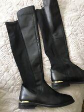 River Island Black Knee High Boots