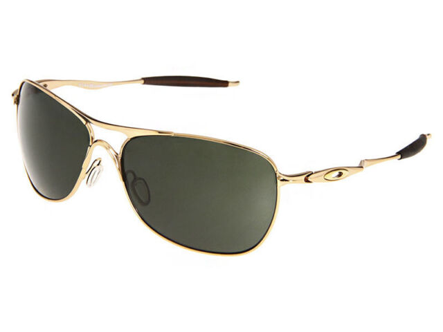 0df09e6c681 Oakley Crosshair Sunglasses Polished Gold Dark Grey Oo4060-01 for ...