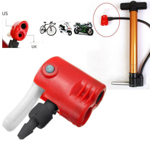 Schrader Valve Bicycle Bike Tire Tyre Air Pump Inflator Multi-use Connector Head