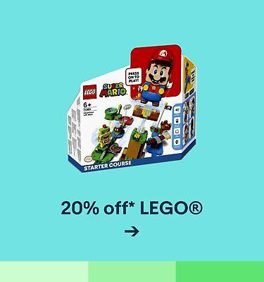 20% off* LEGO®