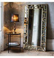 Verbier Large Modern Gold Rectangle Full Length Leaner Floor Wall Mirror 62x31