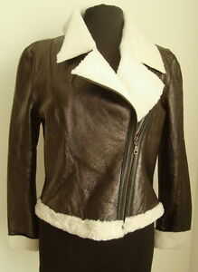 Sheepskin Brown Jacket 3025 Size Flying Dark Ladies' Aviator M nCRFxZc6