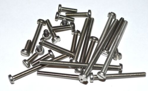 METRIC STAINLESS CHEESE HEAD SLOTTED MACHINE SCREWS M3X14 PKG OF 25 RC