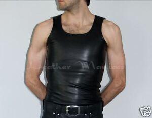 In Uomo Pelle hemd Camicia Leder Canotta SxqWdwX1
