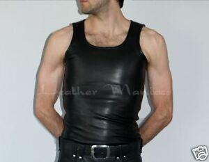 Canotta Pelle hemd Uomo In Camicia Leder Fv6qaxw
