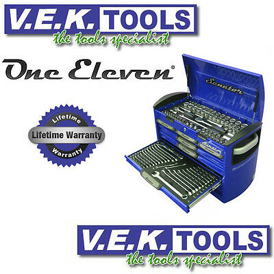 ONE ELEVEN SENATOR BLUE WORKSHOP TOOLS KIT WITH INSERT TRAYS & CHEST-KC SP POINT