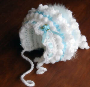 Baby-Bonnet-Crochet-PATTERN-b1-All-Sizes-Can-Be-Made-Stunning