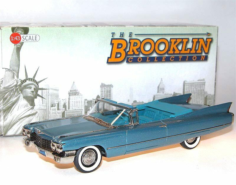 Brooklin BRK 199 1960 Cadillac Series 62 Congreenible Coupe Lucerne bluee 1 43