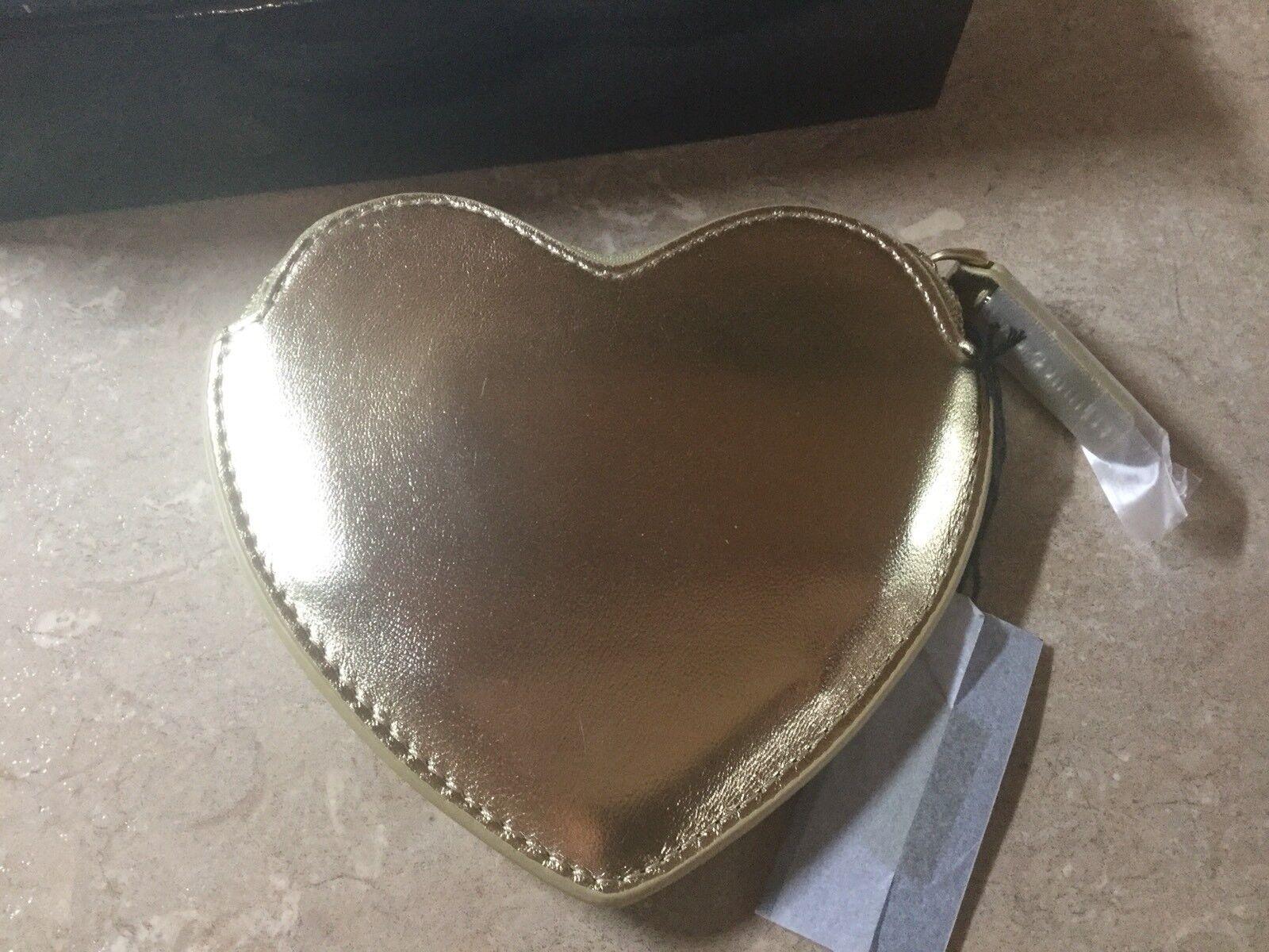 Lulu Guinness Gold Glitter Heart Coin Purse (BNIB)