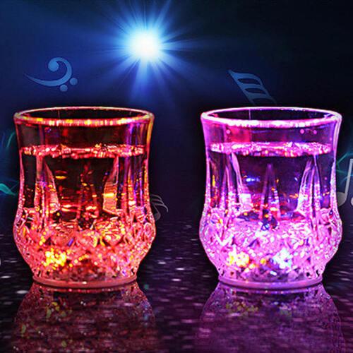 Flashing LED Wine Shot Drink Glass Light Up Party Barware Wedding Cup Bar