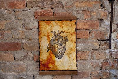 "Human Brain Anatomy Illustration Neurology Doctor Wall Art  Canvas 8.7/"" x 11.8/"""