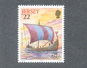 The Vikings-viking Long Boat-jersey Neuf Sans Charnière-ships (2000)-afficher Le Titre D'origine