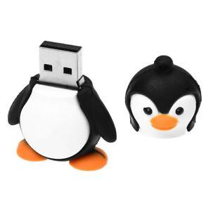 4GB-Novedad-Lindo-Negro-con-blanco-Bebe-Pinguino-USB-2-0-Unidad-de-flash-P4M2