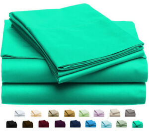 NEW-Luxury-Home-6-Piece-Bed-Sheet-Set-Turquoise-Size-Queen