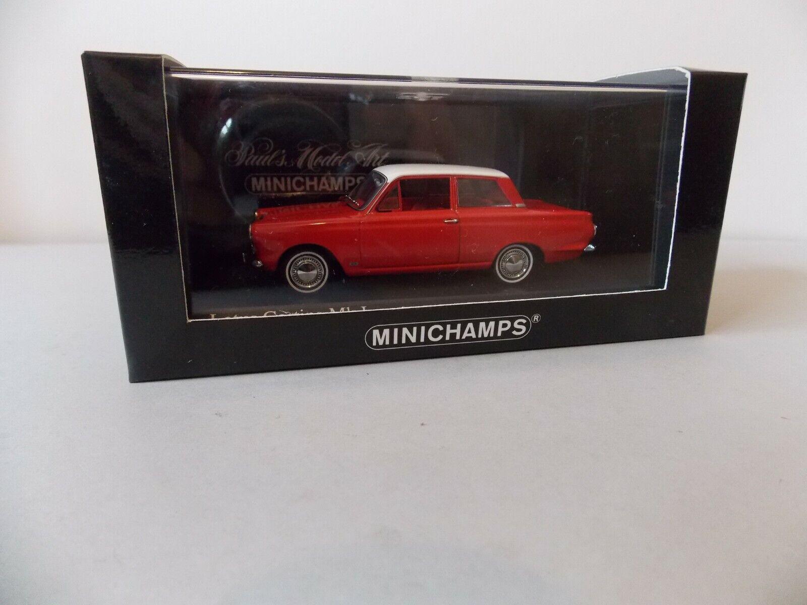 Minichamps Ford Cortina Mk1 en Rouge, Ltd  Edition 1 43 SCALE 400 082002  qualité de première classe