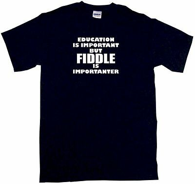Education is Important But Violin is Importanter Mens Tee Shirt Pick Size SM-6XL