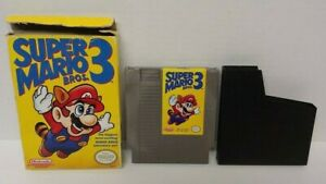 Super-Mario-Bros-3-NES-Nintendo-Game-Original-BOX-Dust-Cover-Working-Tested