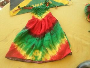 HandmadeToddler Dress Rasta Color Tie Dye Floral Size 1 - Yrs Plus ...