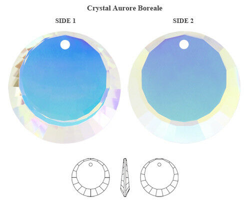 Genuine SWAROVSKI 6210 Round Pendant Crystal AB 12mm